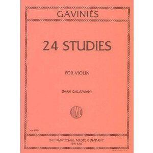 Gavinies, Pierre - 24 Studies - Violin solo - edited by Ivan Galamian - International Edition